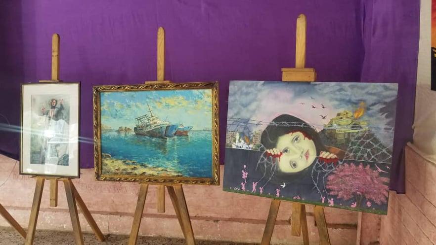 لوحات فنية تجسد واقع تعز اليوم