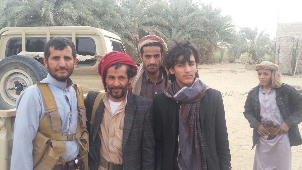 لحظة الافراج عن اسرى حوثيين في الجوف