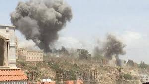 التحالف ينفذ غارات على مواقع للحوثيين وصالح في تعز وصعده