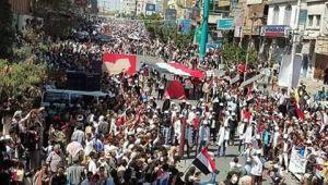تعز.. مهرجان كرنفالي كبير في الذكرى السادسة لثورة 11 فبراير (صور)