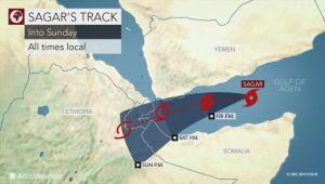 """كلما يجب أن تعرفه عن إعصار """"ساجار"""" الذي سيضرب اليمن (ترجمة خاصة)"""