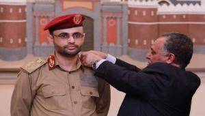 """الراعي يمنح المشاط رتبة """"مشير"""" وناشطون يستحضرون التحالف بين الحوثيين والمؤتمر (رصد)"""