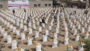 الجمعية الكويتية تدشن مشروع توزيع السلة الغذائية لعدد 2500 أسرة نازحة بمحافظة مأرب