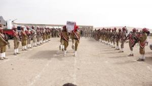تشييع جثمان قائد اللواء 153 مشاة في محافظة شبوة (صور)