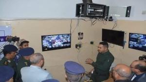شرطة تعز تُدشن المرحلة الثالثة لنظام التحكم المرئي عبر كاميرات المراقبة