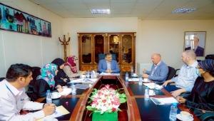 وفد أممي يناقش مع لملس خطة عمل مشروع تطوير ميناء عدن