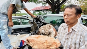 قيمتها 3.2 ملايين دولار.. صياد تايلندي يعثر على أكبر قطعة عنبر في العالم