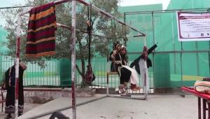 """""""المدرهة"""" تراث تقليدي يميز حجاج سكان صنعاء في الوداع والاستقبال"""