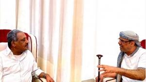 الميسري يبحث مع زعيم الحراك الثوري تطورات الوضع في جنوبي اليمن