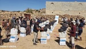 الأمم المتحدة توزع المساعدات الغذائية لأكثر من 2700 أسرة في مأرب