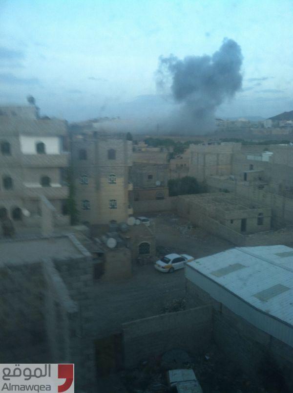 التحالف يستهدف مواقع عسكرية في صنعاء (الاسماء)