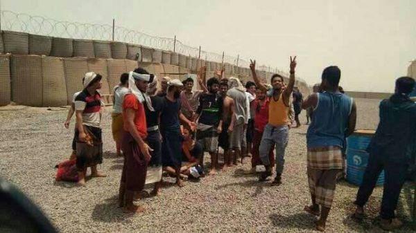 قوات الحزام الأمني تفرج عن ثمانية من المعتقلين في عدن