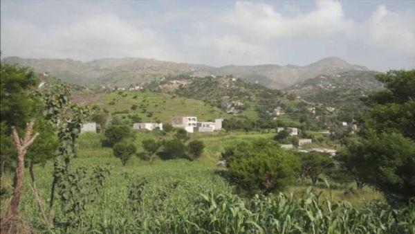 مليشيا الحوثي تداهم منطقة القدم بعتمة وتفجر منزل أحد أقرباء الشيخ معوضة