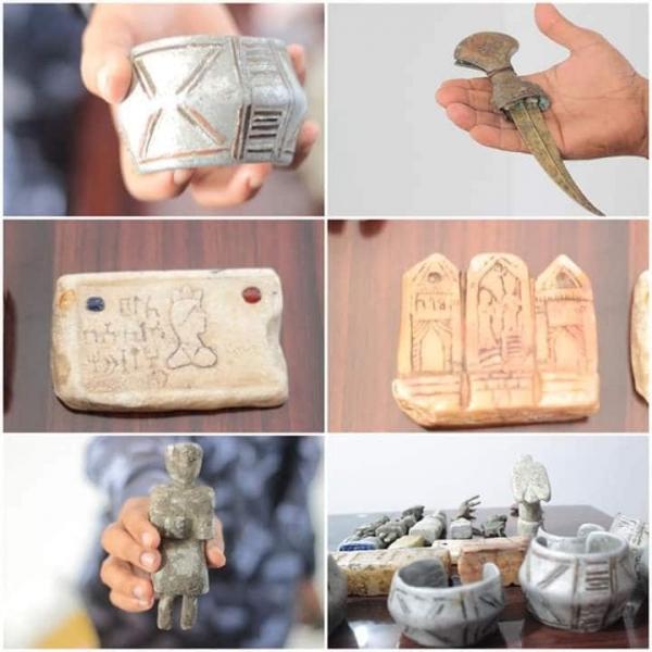 حضرموت.. ضبط مواطن بحوزته قطع أثرية قديمة بالشحر