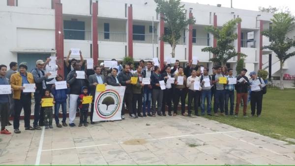 وقفة احتجاجية لطلاب اليمن في الهند للمطالبة بمستحقاتهم المالية