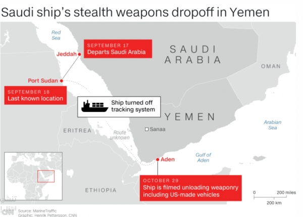 Under shroud of secrecy US weapons arrive in Yemen despite Congressional outrage