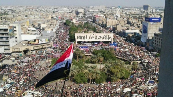 اتساع رقعة الاحتجاجات العراقية في بغداد وجنوب ووسط البلاد