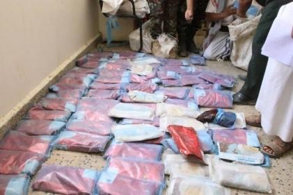شرطة مأرب تضبط 41 كليوجراما من الحشيش المخدر كانت في طريقها للحوثيين