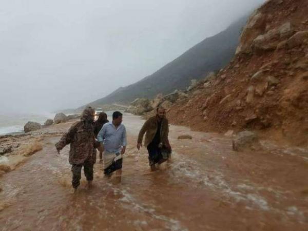 محروس يدعو لمعالجة الأضرار التي خلفتها الأمطار والسيول في سقطرى