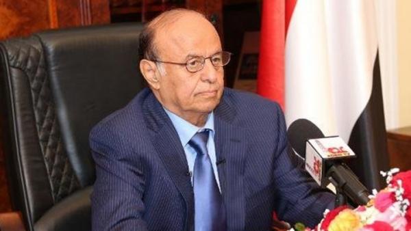 الرئيس هادي يوجه الحكومة بسرعة معالجة أضرار السيول بعدن