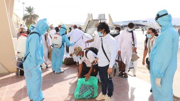 إعادة 383 من اليمنيين العالقين في مصر والإمارات