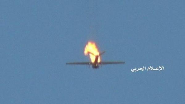 الحوثيون يعلنون إسقاط طائرة تجسس أمريكية في أجواء مدينة حرض
