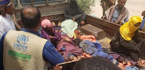 مقتل وإصابة أكثر من 15 مدنياً بينهم أطفال ونساء بغارة للتحالف في الجوف