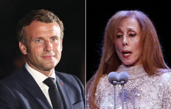 الرئيس الفرنسي يكتب: لدي موعد على فنجان قهوة مع فيروز