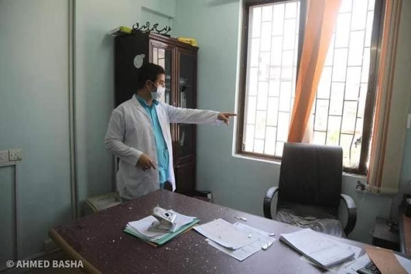 إصابات بقصف حوثي استهدف مستشفى الأمل لعلاج الأورام في تعز