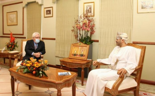 غريفيث يلتقي وزير خارجية عمان وناطق الحوثيين في مسقط