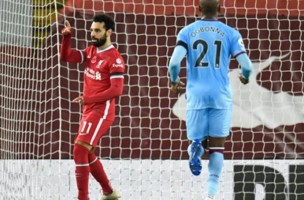 ليفربول يعادل رقمه القياسي ويتصدر البريميرليغ.. وصلاح وصيف سون بقائمة الهدافين