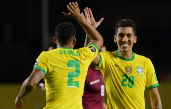 شاهد.. فيرمينو يحسم الفوز للبرازيل وتشيلي تفوز بثنائية رائعة لفيدال
