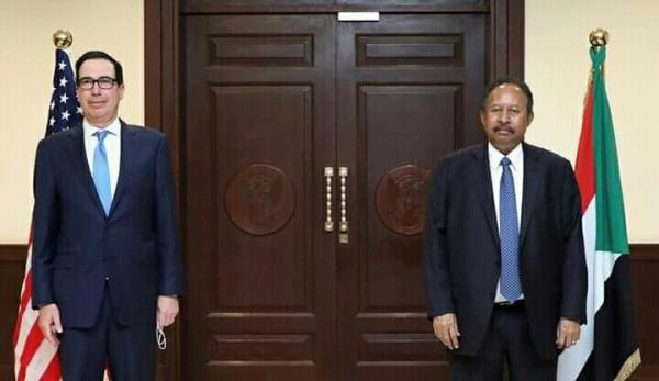 في زيارة هي الأولى من نوعها ، وزير الخزانة الأمريكي في العاصمة السودانية الخرطوم