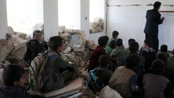 منظمة حقوقية تسلط الضوء على حجم التدمير للعملية التعليمة في اليمن جراء الحرب