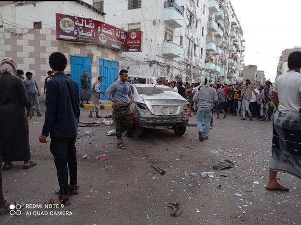 إصابة مسؤول أمني بانفجار عبوة ناسفة في عدن