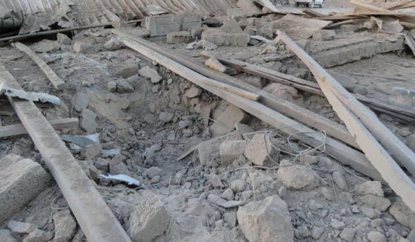 The Houthi group targets a residential neighborhood in Marib with a ballistic missile