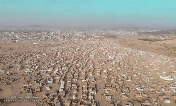 Mass displacement from camps in Marib, as the Houthis targeted them with more than 30 shells