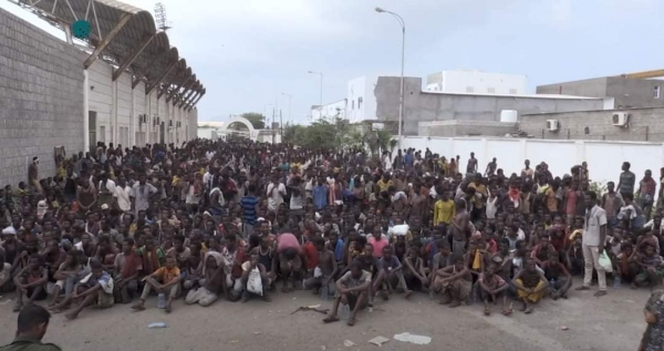 The Houthi group deports 400 African refugees from Sana'a to the legitimate government areas