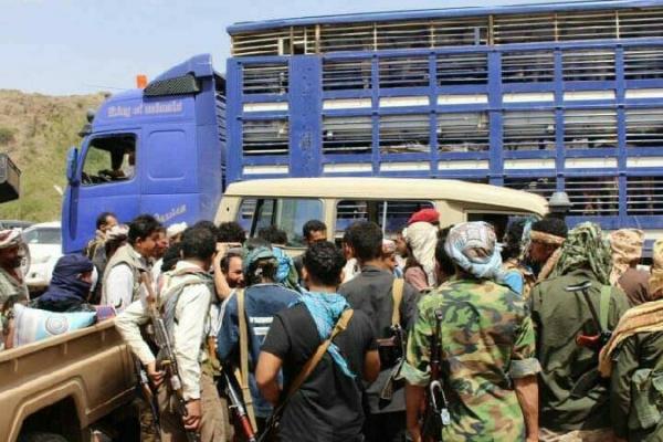 نجاح صفقة تبادل أسرى بين الجيش الوطني والحوثيين في الضالع