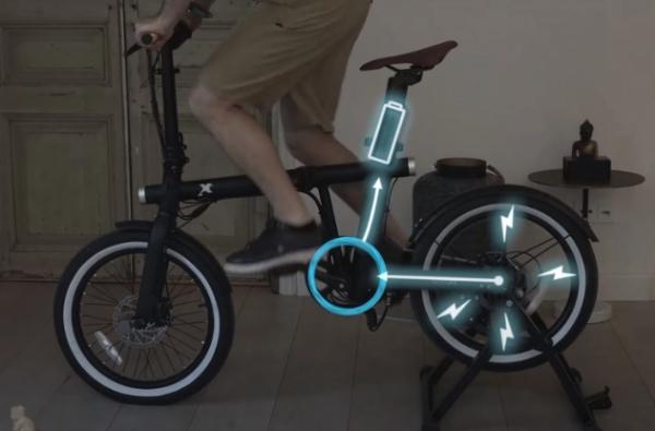 3 × 1.. شاهد دراجة كهربائية تتحول لجهاز رياضي وشاحن