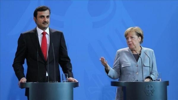 أمير قطر يبحث مع ميركل الأوضاع في أفغانستان
