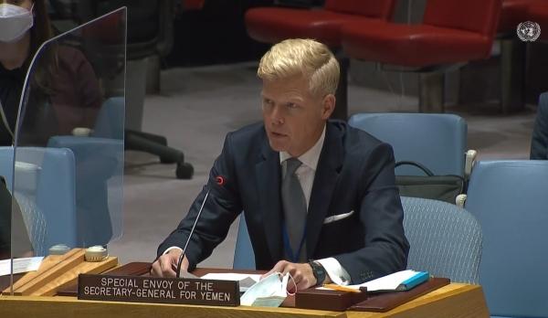 غروندبيرغ: انخراط الأطراف بحسن نية خطوة أولى لإحراز تقدّم في جهود إنهاء الحرب باليمن