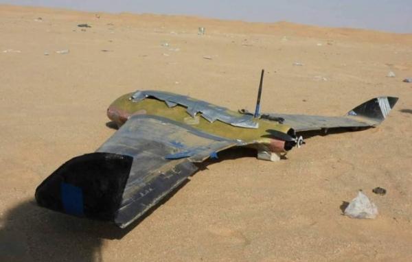 الجيش الوطني يسقط طائرة مسيرة تابعة للحوثيين شمال غربي شبوة