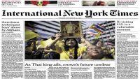 """حجب نسخة """"نيويورك تايمز"""" في تايلاند بسبب مقال عن الملك"""
