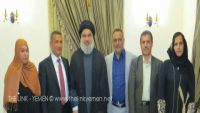 بعد لقائه حسن نصر الله ببيروت وفد لجنة الحوثيين في إيران