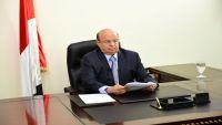 الرئيس هادي يتعهد بمواصلة الحرب حتى تحرير اليمن من الانقلابيين