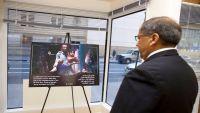معرض صور بنيويورك الأمريكية عن جرائم الحوثيين وقوات صالح بحق الأطفال والمدنيين بتعز (صور)
