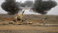 قصف مدفعي سعودي على مواقع المليشيا بمحافظتي صعدة وحجة