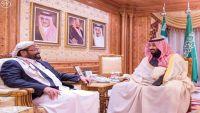 محافظ مأرب يلتقي الأمير محمد بن سلمان بحضور رئيس الاستخبارات السعودية