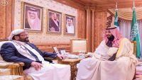 محمد بن سلمان يلتقي بالشيخ سلطان العرادة محافظ مأرب